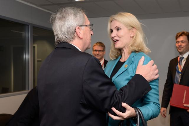 Meeting between Helle Thorning Schmidt, Danish Prime Minister, and Jean-Claude Juncker, President-elect of the EC