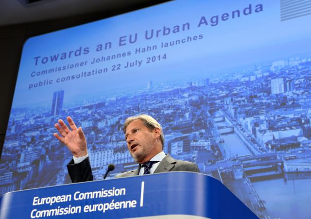 "Illustration of ""Press conference by Johannes Hahn, Member of the EC, on the future EU Urban Agenda"""