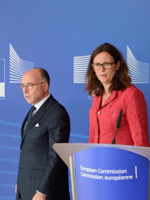 Point de presse de Cecilia Malmström et Bernard Cazeneuve