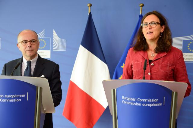 Joint press conference by Cecilia Malmström, Member of the EC, and Bernard Cazeneuve, French Minister for the Interior, on the theme of immigration