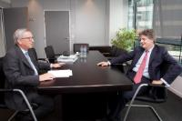 Meeting between Jonathan Hill, former Leader of the British House of Lords, and Jean-Claude Juncker, President-elect of the EC