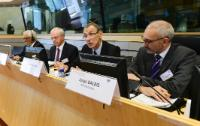 """Illustration of """"Participation of Andris Piebalgs, Member of the EC, at the 2nd meeting of the Policy Forum on Development"""""""