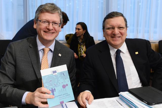 Participation de José Manuel Barroso, président de la CE, et László Andor, membre de la CE, au sommet social tripartite