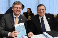 "Illustration of ""Participation of José Manuel Barroso, President of the EC, and László Andor, Member of the EC, in the..."