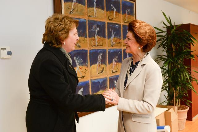 Androulla Vassiliou reçoit Mary McAleese, présidente du groupe de haut niveau sur la modernisation de l'enseignement supérieur