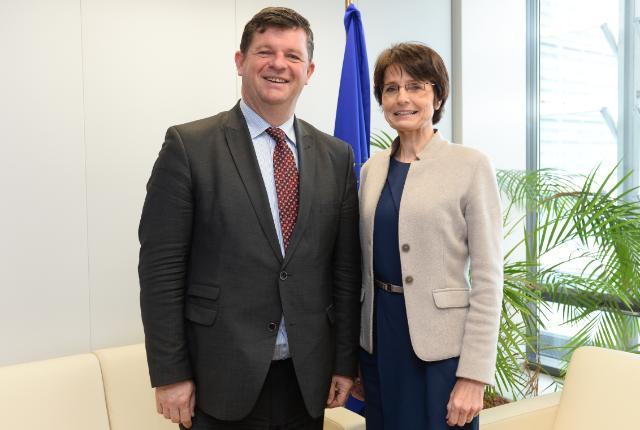 Visite de Bart Tommelein, secrétaire d'État chargé de la Lutte contre la Fraude sociale, la Protection de la vie privée et la Mer du Nord, à la CE