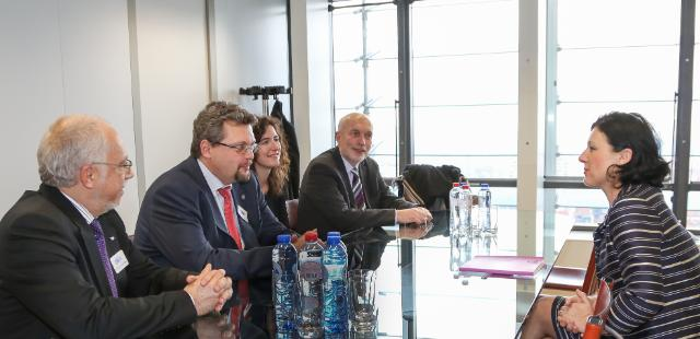 Visit of Martin Vychopeň, Chairman of the CBA, Antonín Mokrý, Third Vice-President of the CCBE, and Stanislav Balík, Head of the Delegation of Czech Republic to the CCBE, to the EC