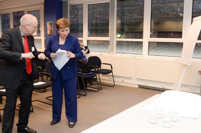 Participation de Kristalina Georgieva, vice-présidente de la CE, à l'évènement célébrant le 10e anniversaire de l'École européenne d'administration