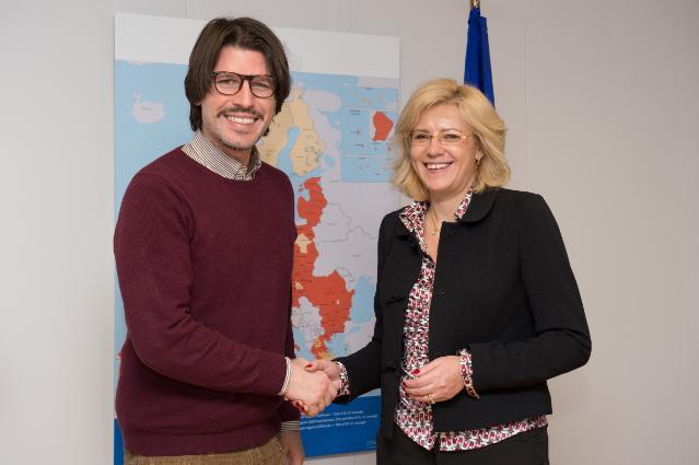 Visite d'Ignazio Corrao, membre du PE, à la CE