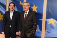 Visite d'Alexis Tsipras, Premier ministre grec, à la CE