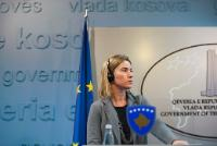 "Illustration of ""Visit of Federica Mogherini, Vice-President of the EC, to Kosovo"""