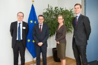 """Illustration of """"Visit of Heikki Mannila, President of the Academy of Finland, to the EC"""""""