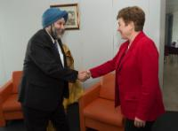 Visit of Manjeev Singh Puri, Head of the Mission of India to the EU, to the EC