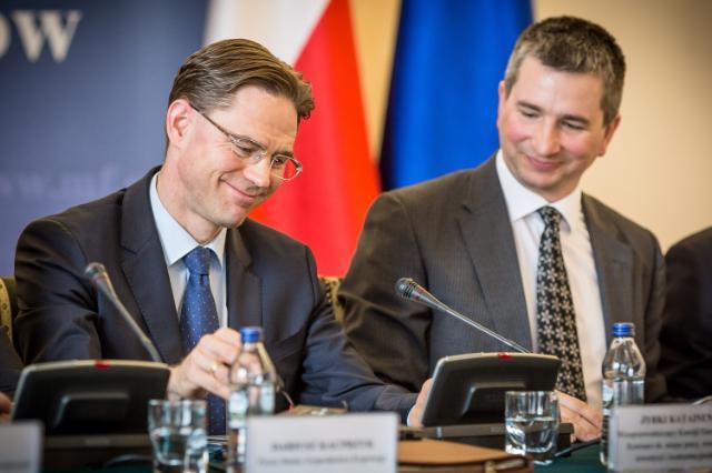 Visite de Jyrki Katainen, vice-président de la CE, en Pologne
