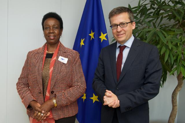 Visit of Tumusiime Rhoda Peace, Member of the AU Commission in charge of Rural Economy and Agriculture, to the EC