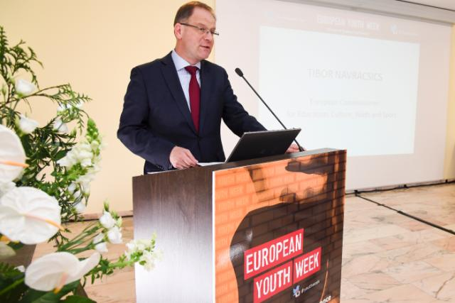 Participation of Tibor Navracsics, Member of the EC, at different events organised in the framework of the European Youth Week 2015, including the ceremony of the Youth Awards 2015