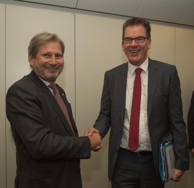 Visite de Gerd Müller, ministre fédéral allemand de la Coopération économique et du Développement, à la CE