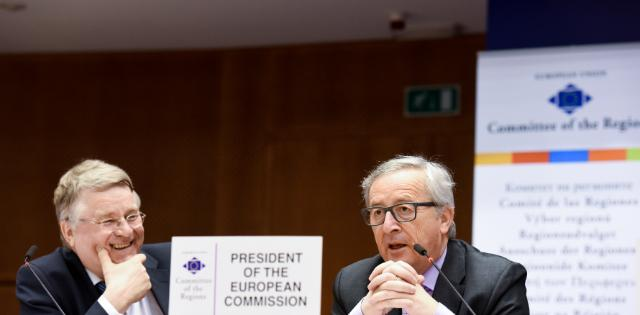 Participation de Jean-Claude Juncker, président de la CE, à la 112e session plénière du CdR
