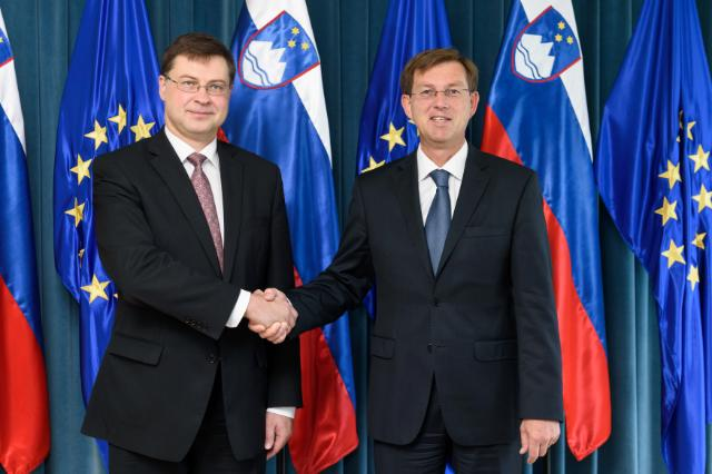 Visit by Valdis Dombrovskis, Vice-President of the EC, to Ljubljana