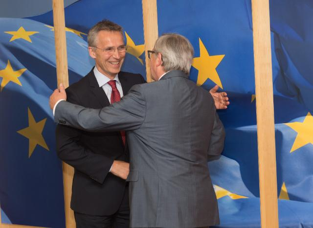 Jean-Claude Juncker receives Jens Stoltenberg, Secretary General of the North Atlantic Treaty Organization (NATO)