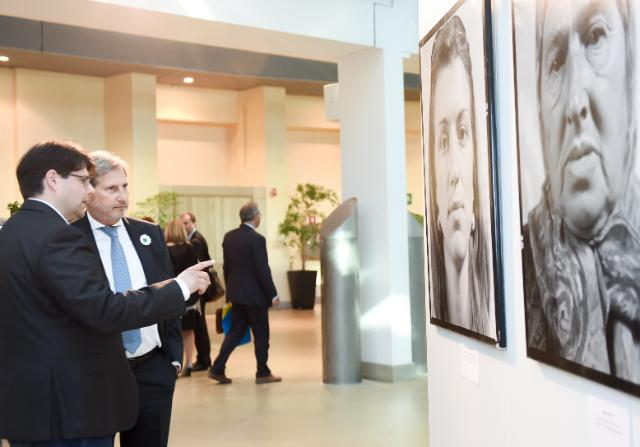Opening of the photo exhibition 'Women of Srebrenica' with the participation of Johannes Hahn, Member of the EC