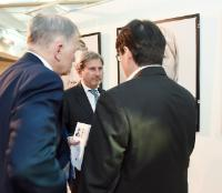 "Illustration of ""Opening of the photo exhibition 'Women of Srebrenica' with the participation of Johannes Hahn, Member of..."