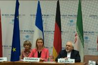 "Illustration of ""Participation of Federica Mogherini, Vice-President of the EC, in the nuclear negotiations with Iran, in..."