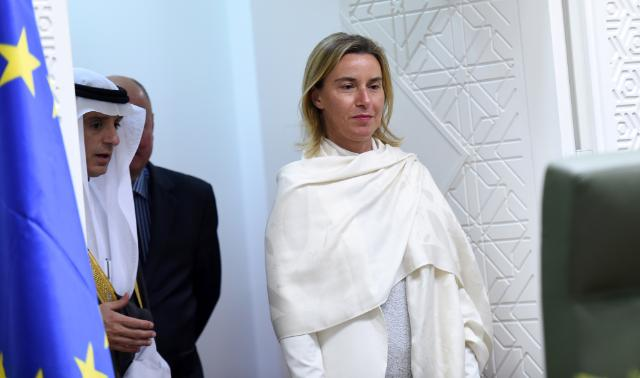 "Illustration of ""Visit of Federica Mogherini to Saudi Arabia"""