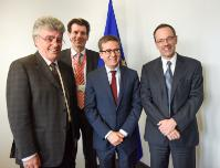 Visit of Lino Guzzella, President of the ETH Zürich, and Patrick Aebischer, President of the EPFL, to the EC