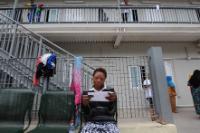 Refugees registration hotspot in Lampedusa, Italy