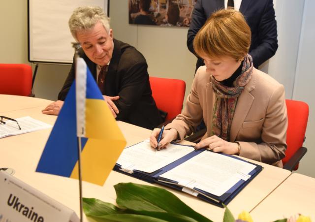 Cérémonie de signature d'un accord EUBAM renforçant la coopération transfrontalière avec la Moldavie et l'Ukraine