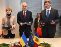 Signature ceremony of a EUBAM agreement to strengthen border cooperation with Moldova and Ukraine