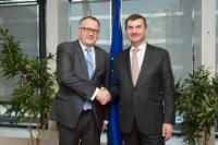 Visit of Arvils Ašeradens, Latvian Deputy Prime Minister and Minister for Economy, to the EC