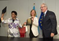 Participation of Federica Mogherini, Vice-President of the EC, and Neven Mimica, Member of the EC, in the signing ceremony of a Statement to recommit to the strategic partnership established in 2012 between UN Women and the EU