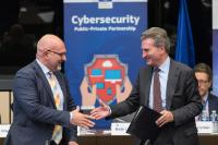 Launch of a public-private partnership and signing ceremony of an agreement on cybersecurity with industry representatives