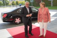 Visite de Jean-Claude Juncker, président de la CE, en Allemagne