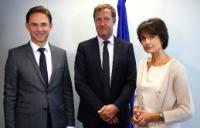 Visite de Paul Magnette, ministre-président du gouvernement wallon et bourgmestre de Charleroi, à la CE