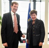 Visite de François Roux, représentant permanent de la Belgique auprès de l'UE, à la CE