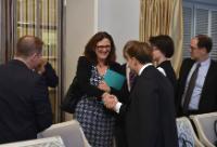 Visite de Cecilia Malmström, membre de la CE, en Ukraine
