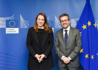 Visit of Axelle Lemaire, French Minister of State for the Digital Sector, attached to the Minister for the Economy, Industry and Digital Sector, to the EC