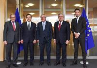 Visit of Antonio Tajani, President of the EP, Mario Draghi, President of the ECB, Jeroen Dijsselbloem, President of the Eurogroup, and Klaus Regling, Managing Director of the ESM, to the EC