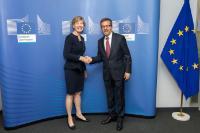 Visite de Susan Desmond-Hellmann, PDG de la Fondation Bill & Melinda Gates à la CE