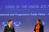 Joint press conference by Jyrki Katainen, Vice-President of the EC, and Cecilia Malmström, Member of the EC, on the Trade Package