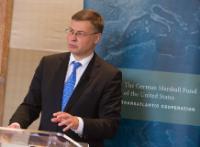 Visite de Valdis Dombrovskis, vice-président de la CE, aux États-Unis d'Amérique