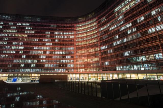 Berlaymont and EEAS buildings illuminated in orange for the UN's 'Orange the world: End violence against women and girls' Campaign