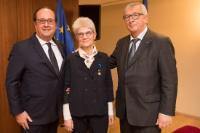 Participation of Jean-Claude Juncker, President of the EC, at the awarding of the National Order of Merit to Bernadette Ségol, General Secretary of the European Trade Union Confederation (ETUC)