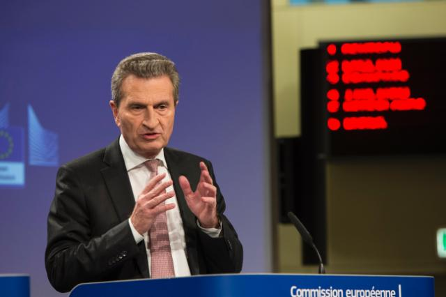 Press conference by Günther Oettinger, Member of the EC, on the multiannual financial framework beyond 2020