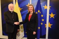 Visit of Paul Richard Gallagher, Secretary for Relations with States of the Holy See, to the EC