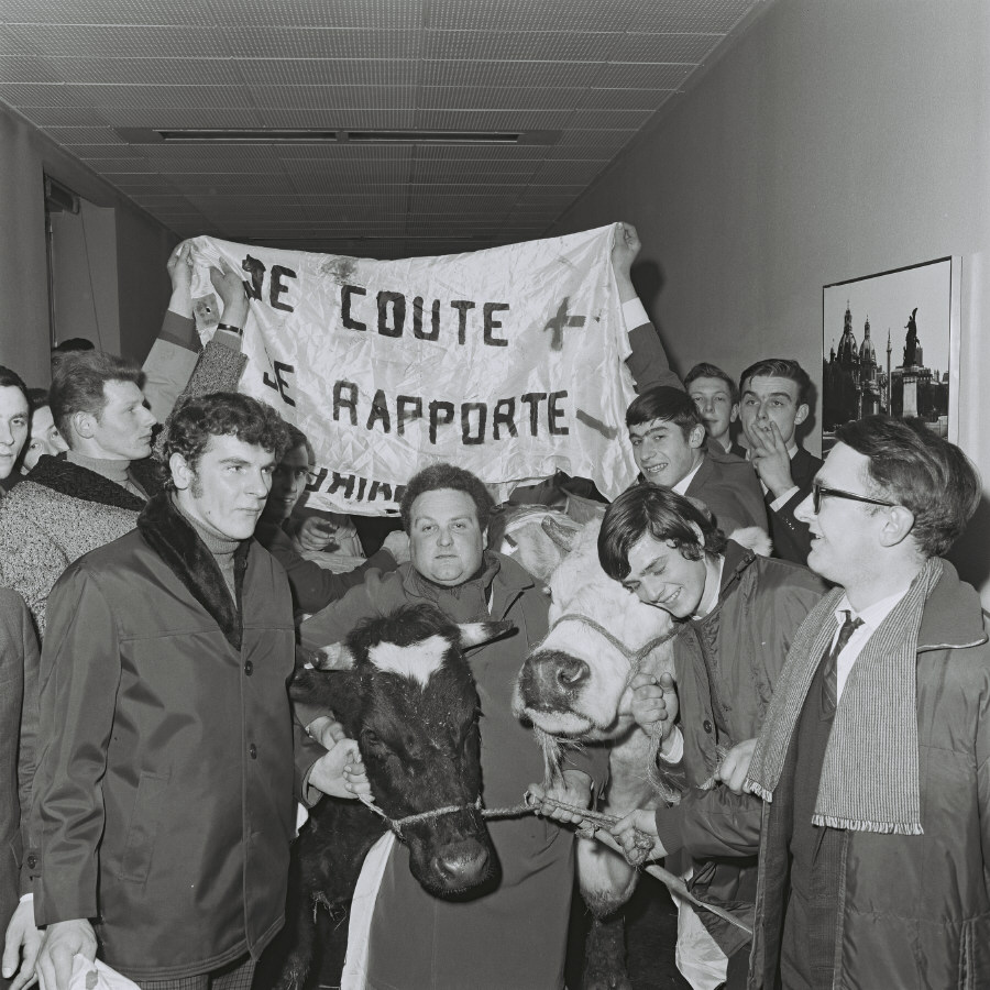 Agriculture Council 15/02/1971: Farmers demonstration