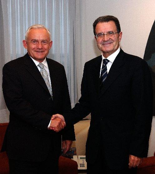 Visite de Leszek Miller, Premier ministre polonais, à la CE